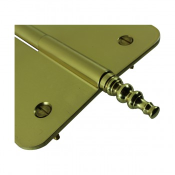 <PRE>Brass Lift Off Left Door Hinge 5inch Radius Steeple Tip </PRE>zoom7