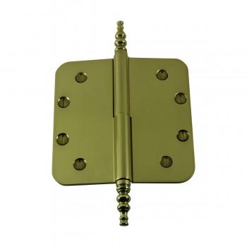 Brass Lift Off Left Door Hinge 5 Radius Steeple Tip Door Hinges Door Hinge