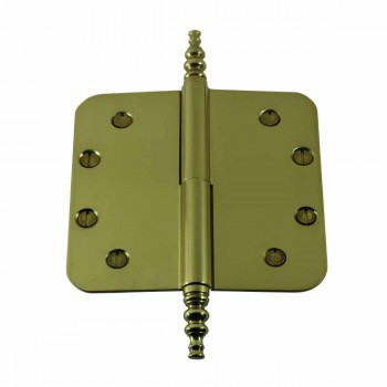 <PRE>Brass Lift Off Left Door Hinge 5inch Radius Steeple Tip </PRE>zoom1
