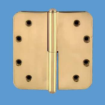 <PRE>Brass Lift Off Left Door Hinge 5&quot; Radius Button Tip </PRE>