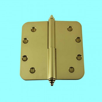<PRE>Brass Lift Off Left Door Hinge 5inch Radius Decor Tip </PRE>zoom2