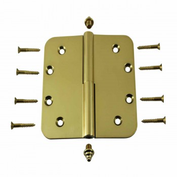 <PRE>Brass Lift Off Left Door Hinge 5inch Radius Decor Tip </PRE>zoom3