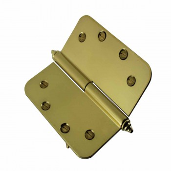 <PRE>Brass Lift Off Left Door Hinge 5inch Radius Decor Tip </PRE>zoom4
