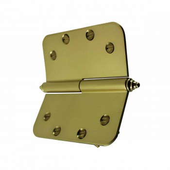<PRE>Brass Lift Off Left Door Hinge 5inch Radius Decor Tip </PRE>zoom5
