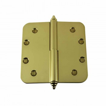 <PRE>Brass Lift Off Left Door Hinge 5inch Radius Decor Tip </PRE>zoom1