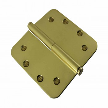<PRE>Brass Lift Off Left Door Hinge 5inch Radius Coin Tip </PRE>zoom4
