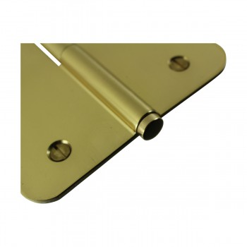 <PRE>Brass Lift Off Left Door Hinge 5inch Radius Coin Tip </PRE>zoom6