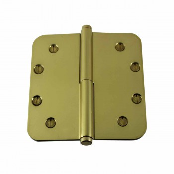 <PRE>Brass Lift Off Left Door Hinge 5&quot; Radius Coin Tip </PRE>