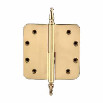<PRE>Lift Off Left Door Hinge 5inch Brass Radius Spire Tip </PRE>zoom1