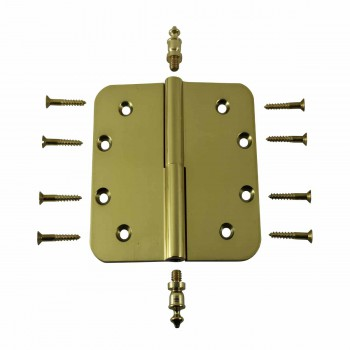 <PRE>Brass Lift Off Left Door Hinge 5inch Radius Urn Tip </PRE>zoom3