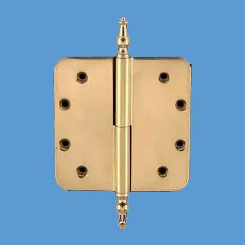 <PRE>Lift Off Left Door Hinge 5&quot; Brass Radius Temple Tip </PRE>