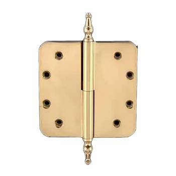<PRE>Lift Off Left Door Hinge 5inch Brass Radius Temple Tip </PRE>zoom1