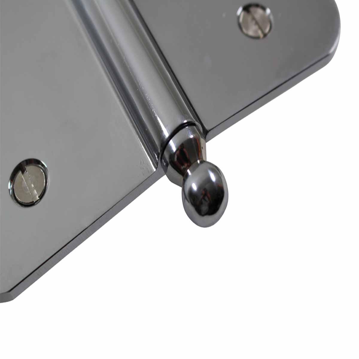 5 Lift Off Left Door Hinge Radius Chrome Ball Tip Door Hinges Door Hinge