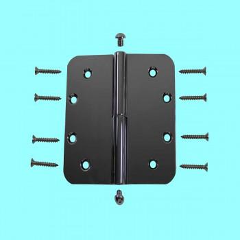 <PRE>5inch Lift Off Left Door Hinge Radius Chrome Button Tip  </PRE>zoom2