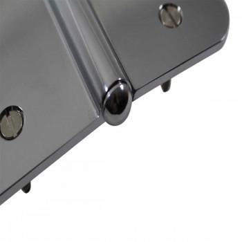 <PRE>5inch Lift Off Left Door Hinge Radius Chrome Button Tip  </PRE>zoom6