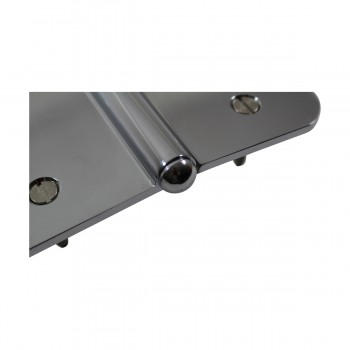 <PRE>5inch Lift Off Left Door Hinge Radius Chrome Button Tip  </PRE>zoom8