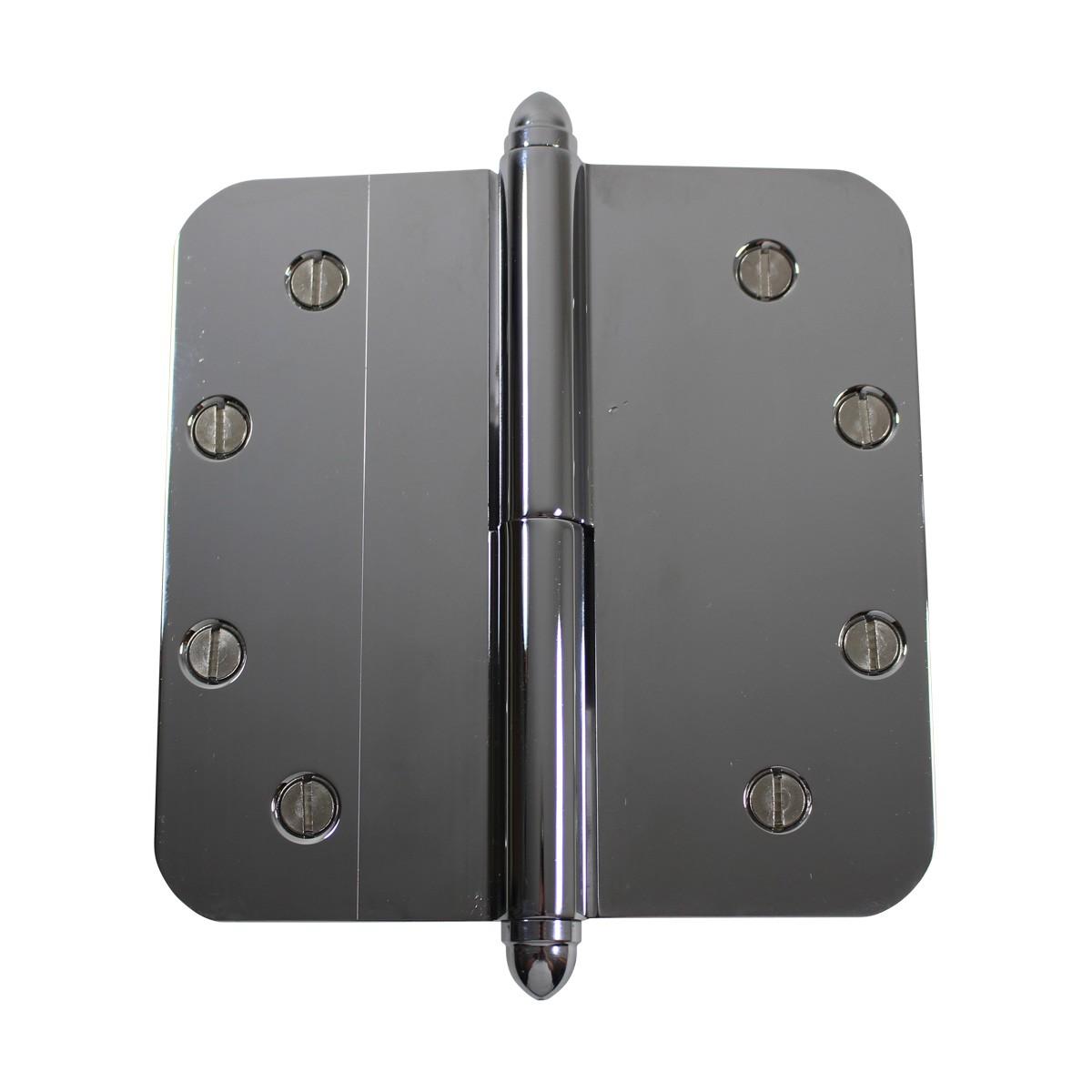5 Lift Off Left Door Hinge Radius Chrome Helmet Tip Door Hinges Door Hinge Solid Brass Hinge