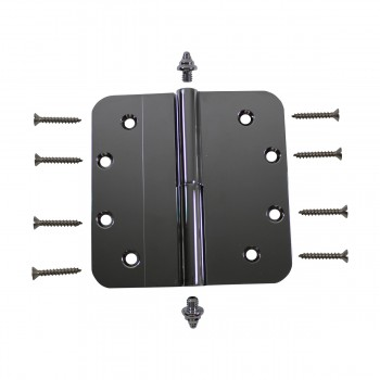 5 Lift Off Left Door Hinge Radius Chrome Decor Tip Door Hinges Door Hinge Solid Brass Hinge