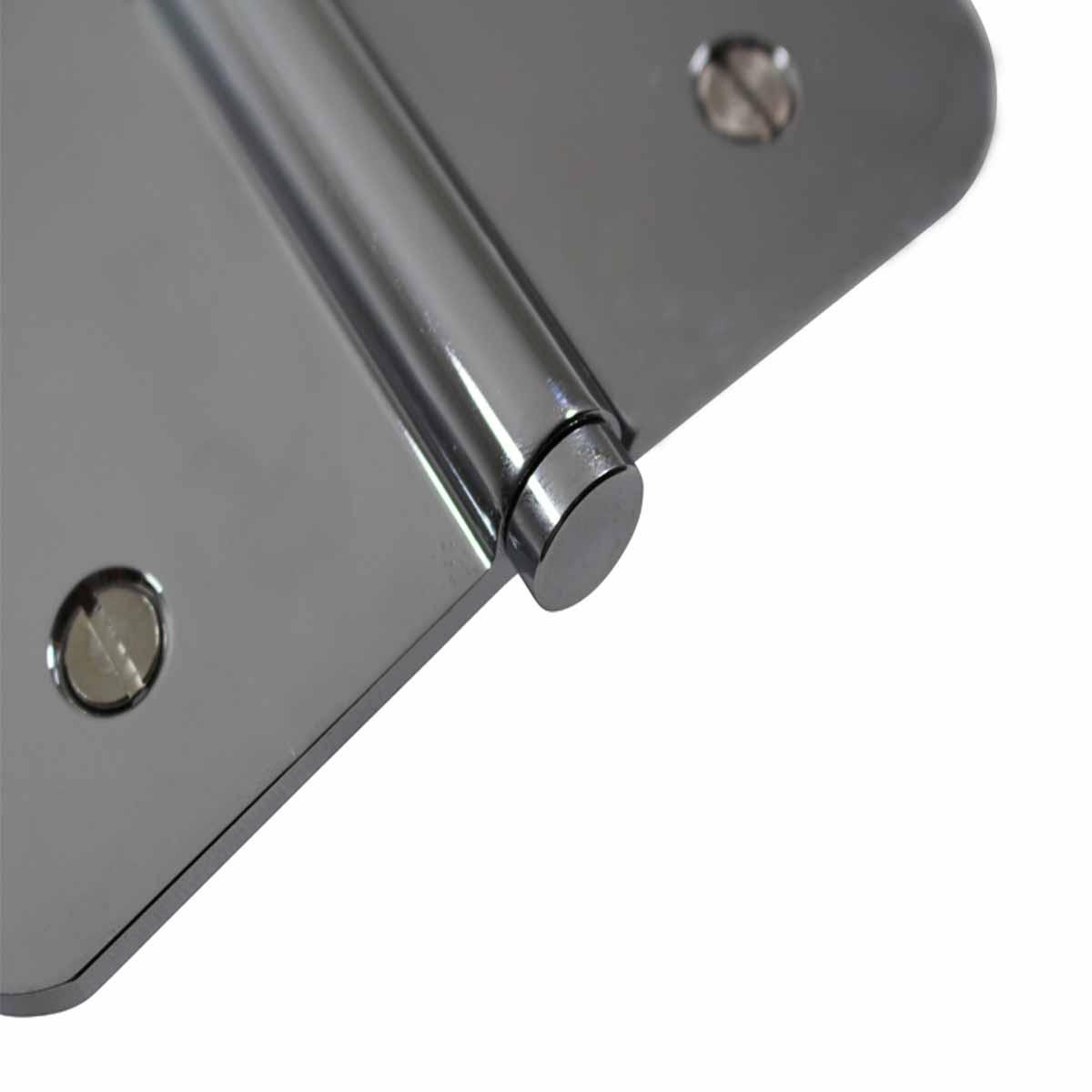 5 Lift Off Left Door Hinge Radius Chrome Coin Tip Door Hinges Door Hinge Solid Brass Hinge