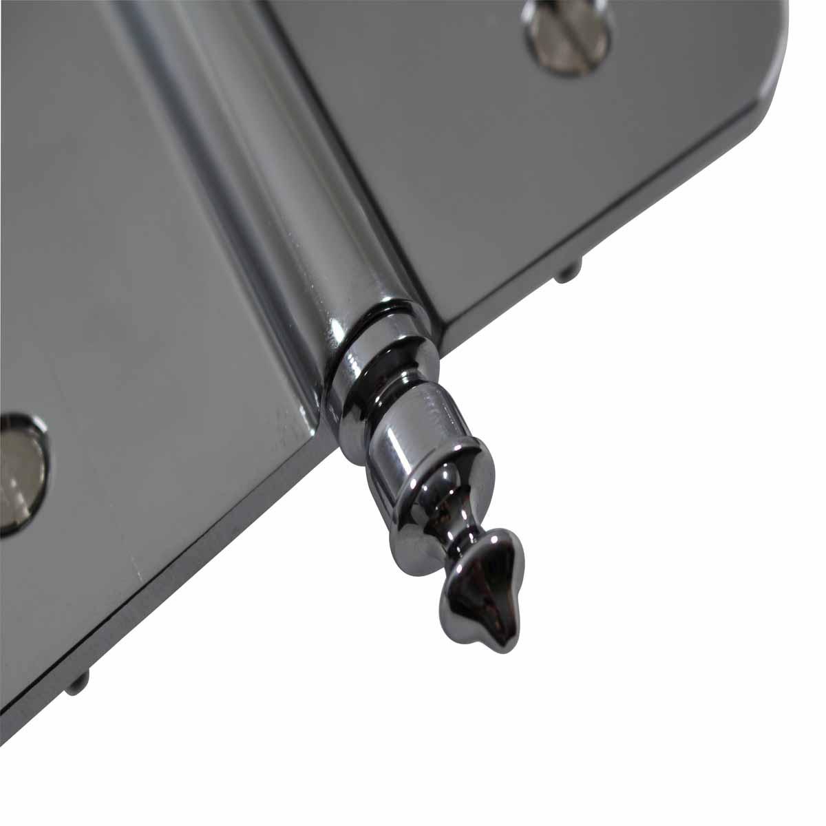 5 Lift Off Left Door Hinge Radius Chrome Urn Tip Door Hinges Door Hinge Solid Brass Hinge
