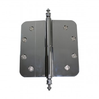 5 Lift Off Left Door Hinge Radius Chrome Urn Tip Door Hinges Door Hinge Solid Brass Hinge