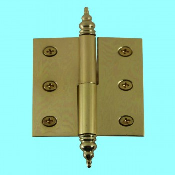 "<PRE>Lift Off Right Brass Cabinet Hinge 2inch x 2.5"" Steeple Tip </PRE>zoom2"