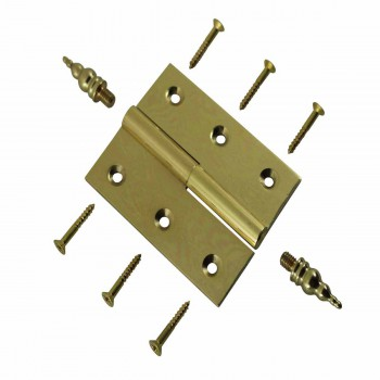 Lift Off Right Brass Cabinet Hinge 2 x 2.5 Steeple Tip Door Hinges Door Hinge Solid Brass Hinge