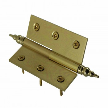 "<PRE>Lift Off Right Brass Cabinet Hinge 2inch x 2.5"" Steeple Tip </PRE>zoom4"