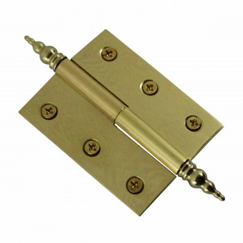 "<PRE>Lift Off Right Brass Cabinet Hinge 2inch x 2.5"" Steeple Tip </PRE>zoom5"