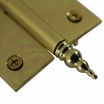 "<PRE>Lift Off Right Brass Cabinet Hinge 2inch x 2.5"" Steeple Tip </PRE>zoom6"