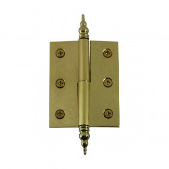 "<PRE>Lift Off Right Brass Cabinet Hinge 2inch x 2.5"" Steeple Tip </PRE>zoom7"