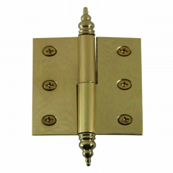 "<PRE>Lift Off Right Brass Cabinet Hinge 2inch x 2.5"" Steeple Tip </PRE>zoom1"