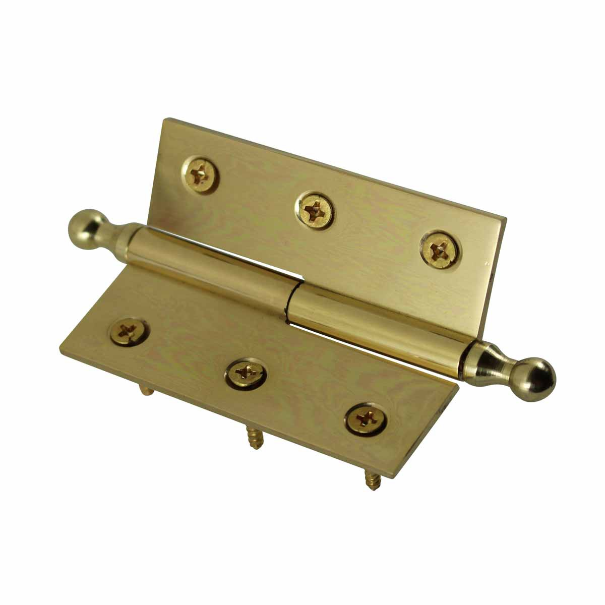 Lift Off Right Brass Cabinet Hinge 2 x 2.5 Ball Tip Door Hinges Door Hinge Solid Brass Hinge