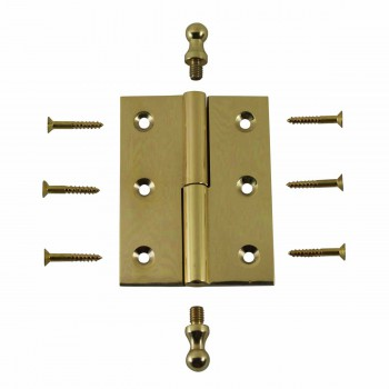 "<PRE>Bright Solid Brass 2inchx2.5"" Square LOR Hinge 97173/92143</PRE>zoom3"