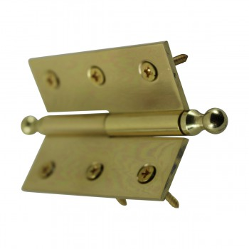 "<PRE>Bright Solid Brass 2inchx2.5"" Square LOR Hinge 97173/92143</PRE>zoom9"