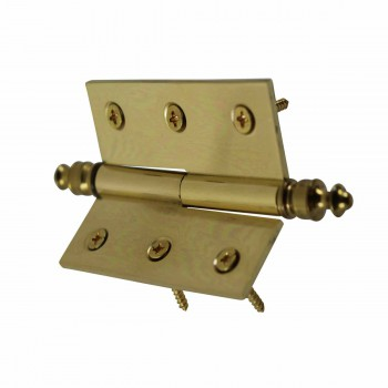 <PRE>Lift Off Right Brass Cabinet Hinge 2&quot; x 2.5&quot; Urn Tip </PRE>