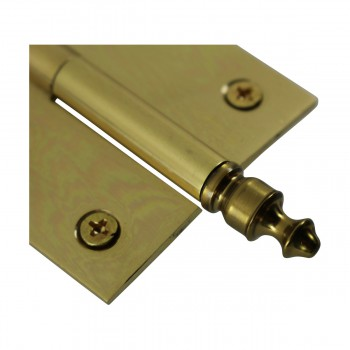 """<PRE>Lift Off Right Brass Cabinet Hinge 2inch x 2.5"""" Urn Tip </PRE>zoom8"""