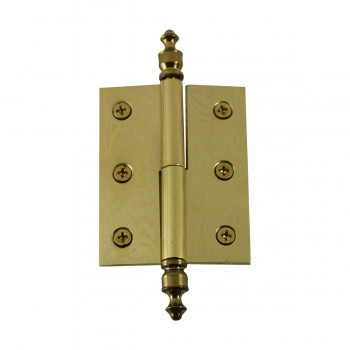 """<PRE>Lift Off Right Brass Cabinet Hinge 2inch x 2.5"""" Urn Tip </PRE>zoom9"""