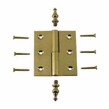 "<PRE>Lift Off Right Brass Cabinet Hinge 2inch x 2.5"" Temple Tip </PRE>zoom3"