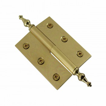 "<PRE>Lift Off Right Brass Cabinet Hinge 2inch x 2.5"" Temple Tip </PRE>zoom4"