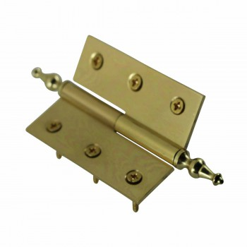 "<PRE>Lift Off Right Brass Cabinet Hinge 2inch x 2.5"" Temple Tip </PRE>zoom5"