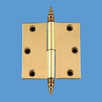 <PRE>Door Cabinet Hinge Lift Off Right 3&quot; Brass Steeple Tip </PRE>