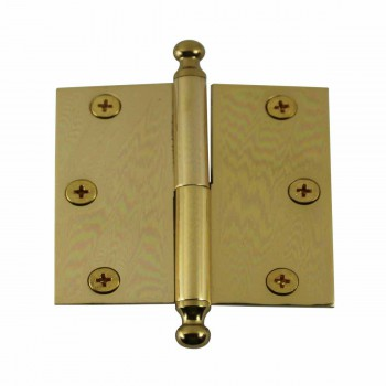 3in Lift Off Right Brass Cabinet Hinge Vintage Ball Tip 15050grid