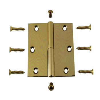 <PRE>3in Lift Off Right Brass Cabinet Hinge Vintage Button Tip </PRE>