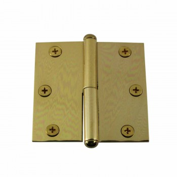 3in Lift Off Right Brass Cabinet Hinge Vintage Button Tip 15051grid