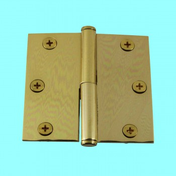 <PRE>3 in. Lift Off Right Brass Cabinet Hinge Vintage Coin Tip </PRE>