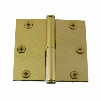 3 in. Lift Off Right Brass Cabinet Hinge Vintage Coin Tip 15054grid