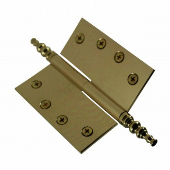 "<PRE>4"" Lift Off Right Brass Door Hinge Vintage Steeple Tip </PRE>zoom4"
