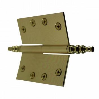 "<PRE>4"" Lift Off Right Brass Door Hinge Vintage Steeple Tip </PRE>zoom5"