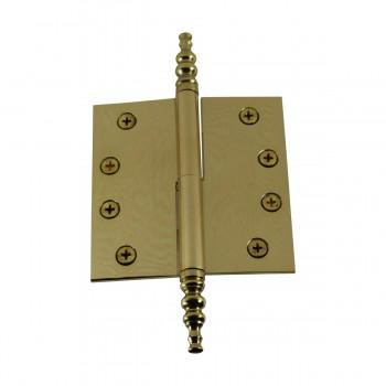 "<PRE>4"" Lift Off Right Brass Door Hinge Vintage Steeple Tip </PRE>zoom7"